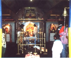 In the old tempel, facing the central shrine, Hamm 1996